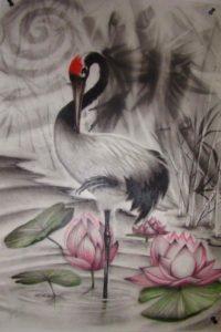 Nghĩa Hình xăm chim Hạc 200x300 - Ý Nghĩa Hình xăm chim Hạc