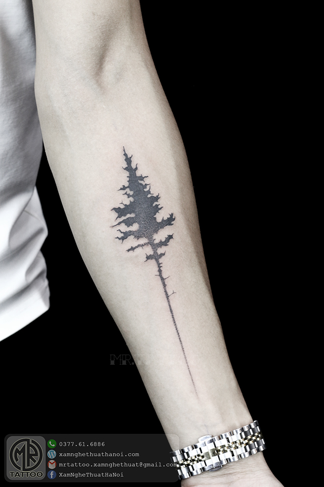 Cây - Hình Xăm Nhỏ tại Mr.Tattoo - Những mẫu xăm nhỏ đẹp nhất 1.