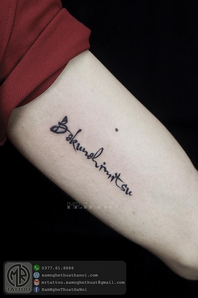 Hình Xăm Chữ 29 - Hình Xăm Chữ tại Mr.Tattoo - Những mẫu xăm chữ đẹp nhất 2.