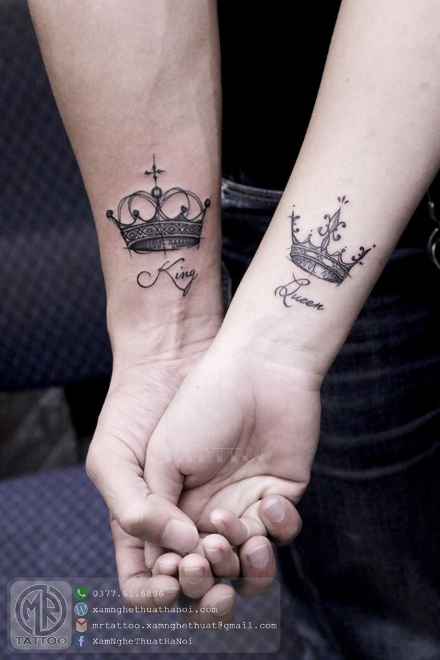 Hình xăm đôi vương miện - Hình Xăm Nhỏ tại Mr.Tattoo - Những mẫu xăm nhỏ đẹp nhất 1.