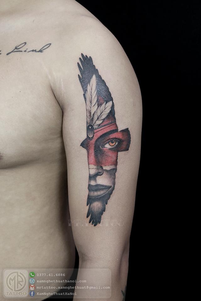 Hình xăm đại bàng 2 - Hình Xăm Đẹp tại Mr.Tattoo - Những mẫu xăm đẹp nhất 2.