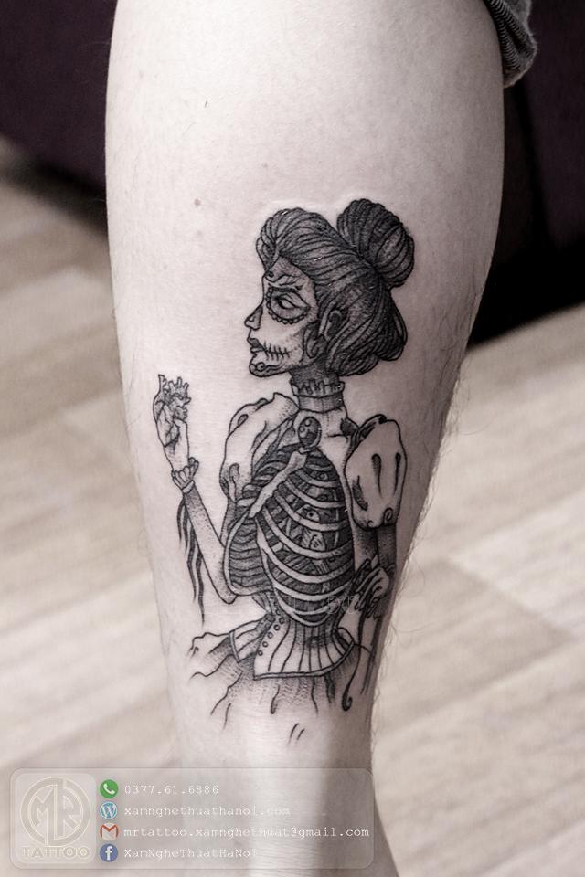 Hình xăm đầu lâu 2 - Hình Xăm Đẹp tại Mr.Tattoo - Những mẫu xăm đẹp nhất 2.