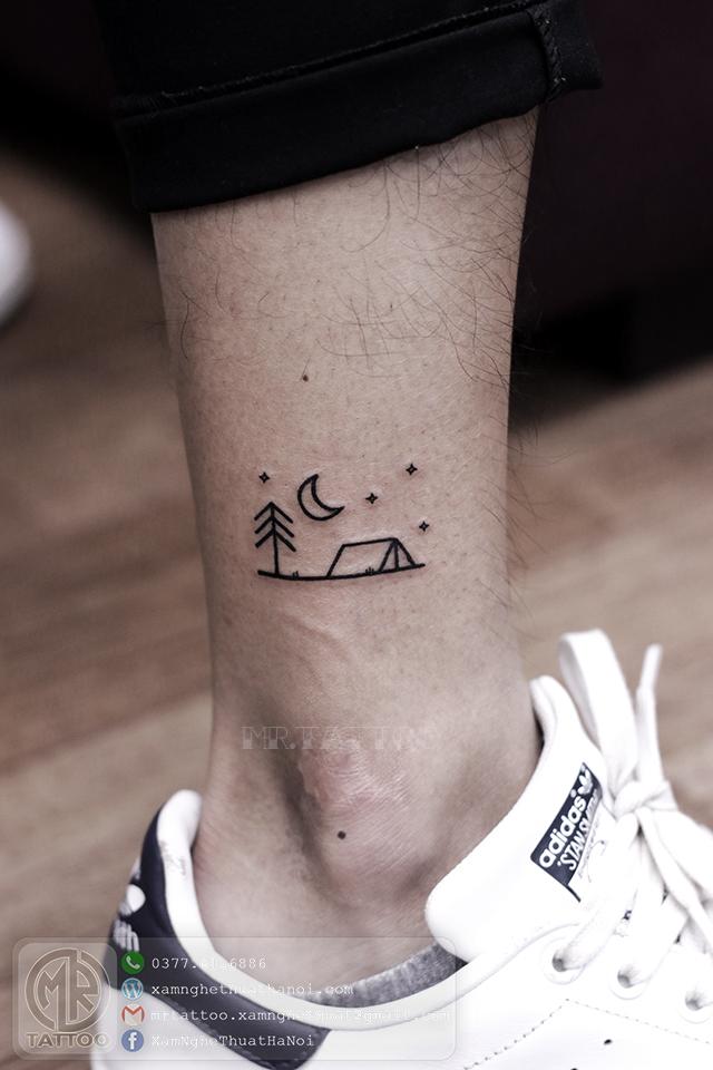 Hình xăm ở chân - Hình Xăm Nhỏ tại Mr.Tattoo - Những mẫu xăm nhỏ đẹp nhất 1.
