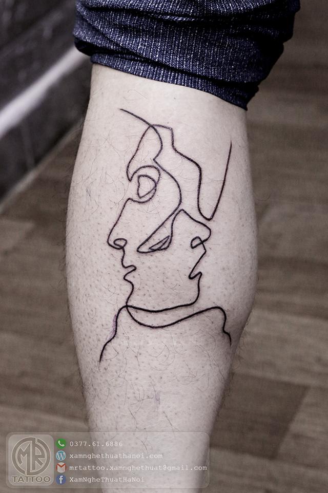 Hình xăm 1 nét - Hình Xăm Nhỏ tại Mr.Tattoo - Những mẫu xăm nhỏ đẹp nhất 1.