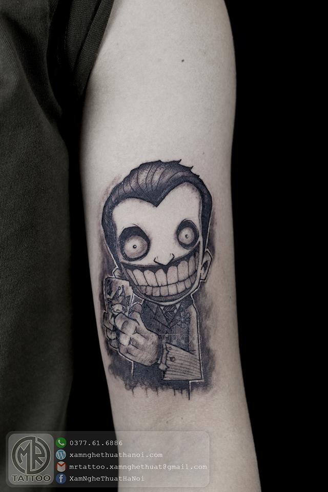 Hình xăm Jocker 1 - Hình Xăm Đẹp tại Mr.Tattoo - Những mẫu xăm đẹp nhất 2.