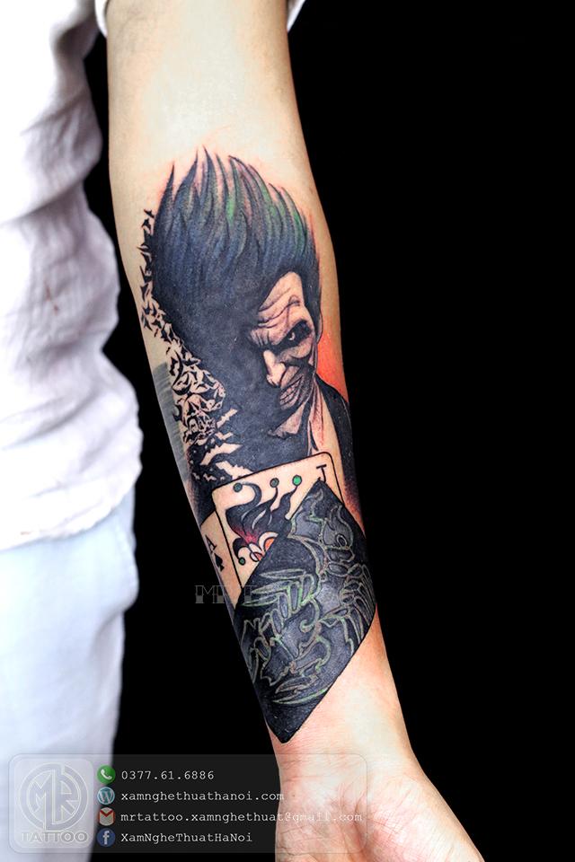 Hình xăm Jocker - Hình Xăm Đẹp tại Mr.Tattoo - Những mẫu xăm đẹp nhất 2.