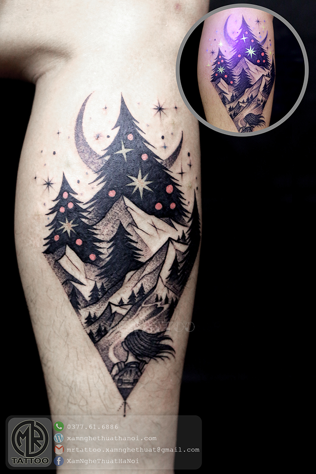 Hình xăm Phong cảnh - Hình Xăm Đẹp tại Mr.Tattoo - Những mẫu xăm đẹp nhất 1.