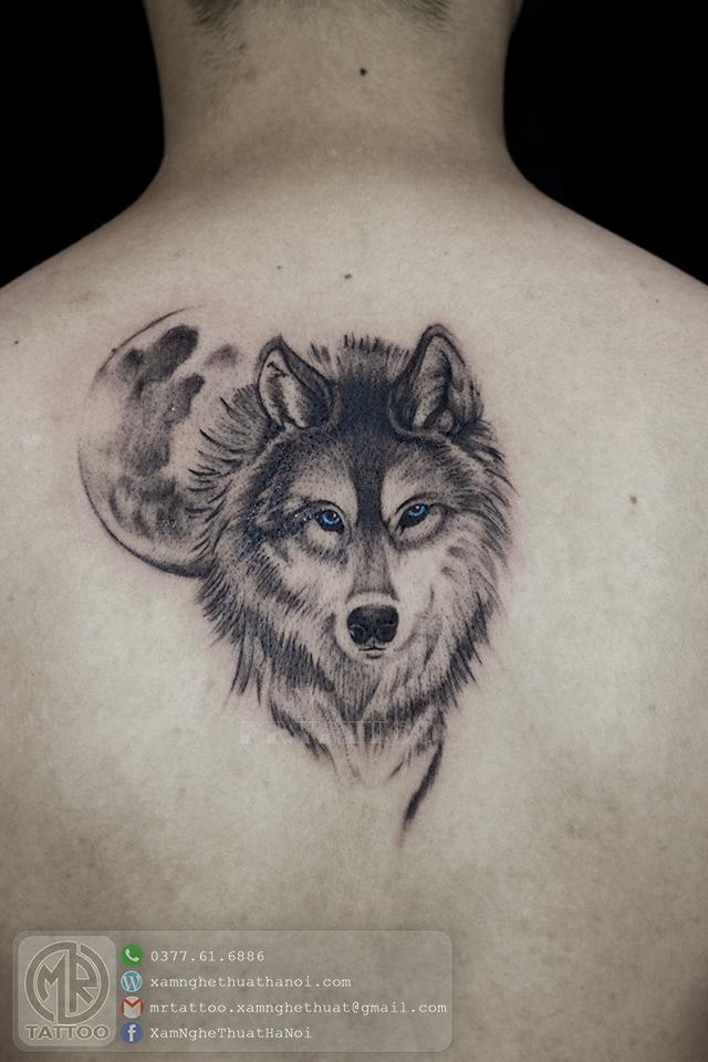 Hình xăm Sói 2 - Hình Xăm Đẹp tại Mr.Tattoo - Những mẫu xăm đẹp nhất 1.