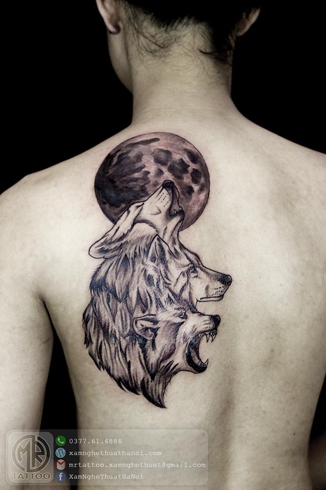 Hình xăm Sói - Hình Xăm Đẹp tại Mr.Tattoo - Những mẫu xăm đẹp nhất 2.
