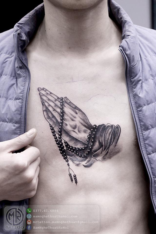 Hình xăm bàn tay cầu nguyện - Hình Xăm Đẹp tại Mr.Tattoo - Những mẫu xăm đẹp nhất 2.
