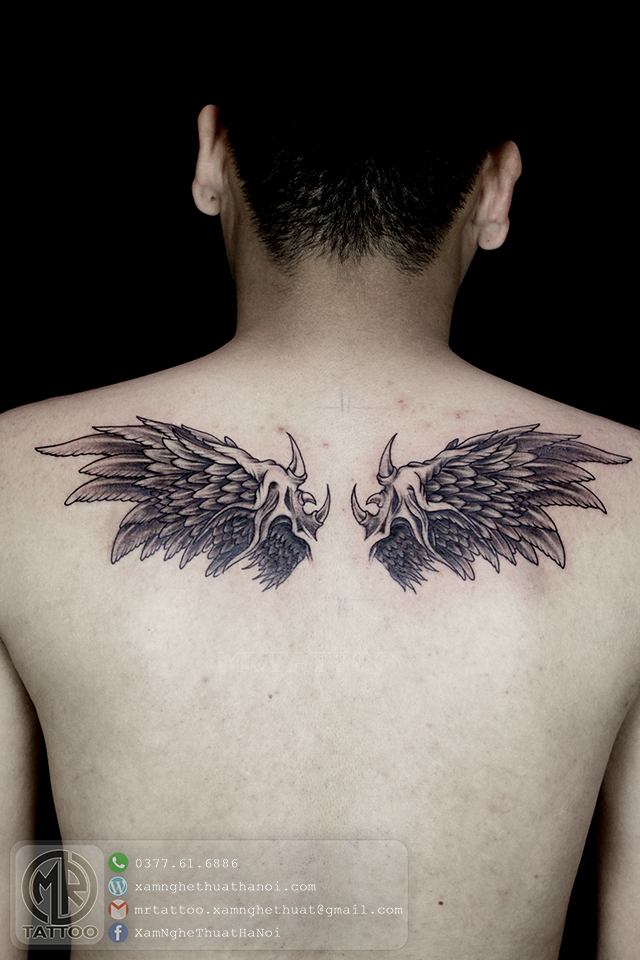 Hình xăm cánh thiên thần - Hình Xăm Đẹp tại Mr.Tattoo - Những mẫu xăm đẹp nhất 1.