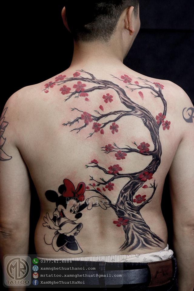 Hình xăm cây đào - Hình Xăm Đẹp tại Mr.Tattoo - Những mẫu xăm đẹp nhất 2.