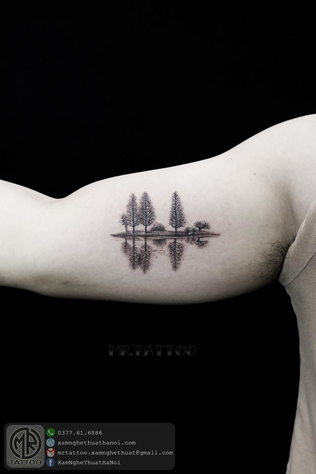 Hình xăm cây 1 - Hình Xăm Nhỏ tại Mr.Tattoo - Những mẫu xăm nhỏ đẹp nhất 1.