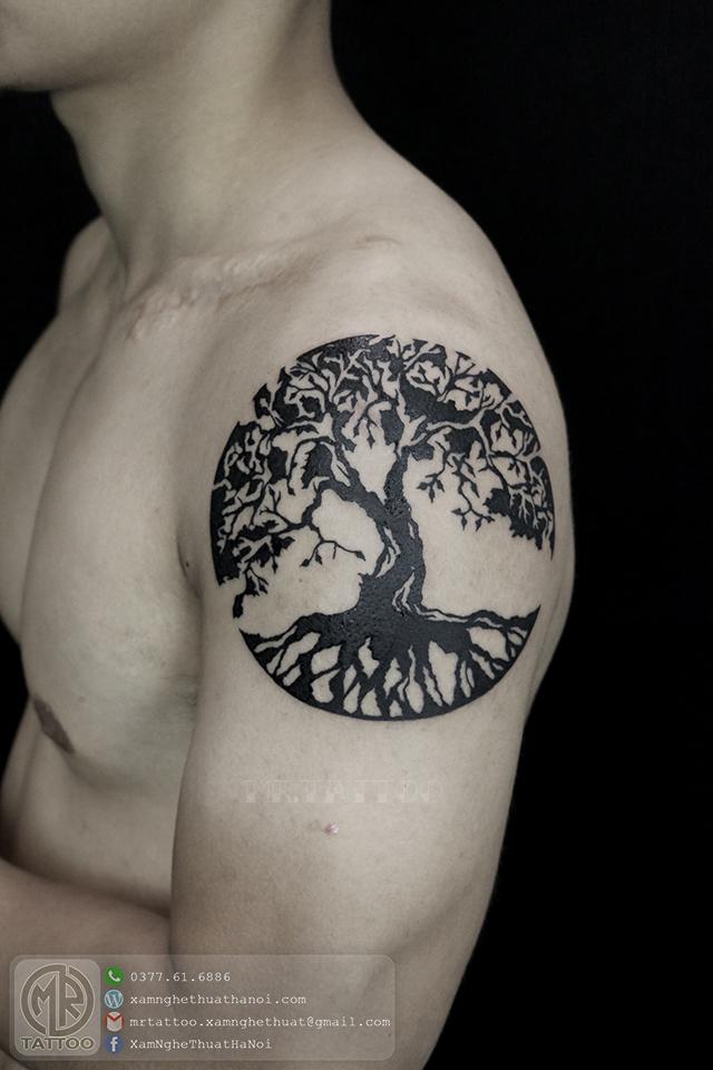 Hình xăm cây 2 - Hình Xăm Đẹp tại Mr.Tattoo - Những mẫu xăm đẹp nhất 2.
