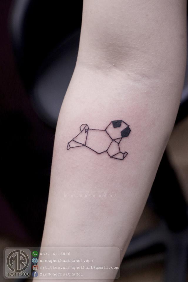 Hình xăm chó 2 - Hình Xăm Nhỏ | Mini Tattoos