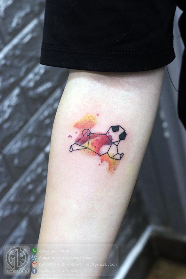 Hình xăm chó pub - Hình Xăm Nhỏ tại Mr.Tattoo - Những mẫu xăm nhỏ đẹp nhất 1.