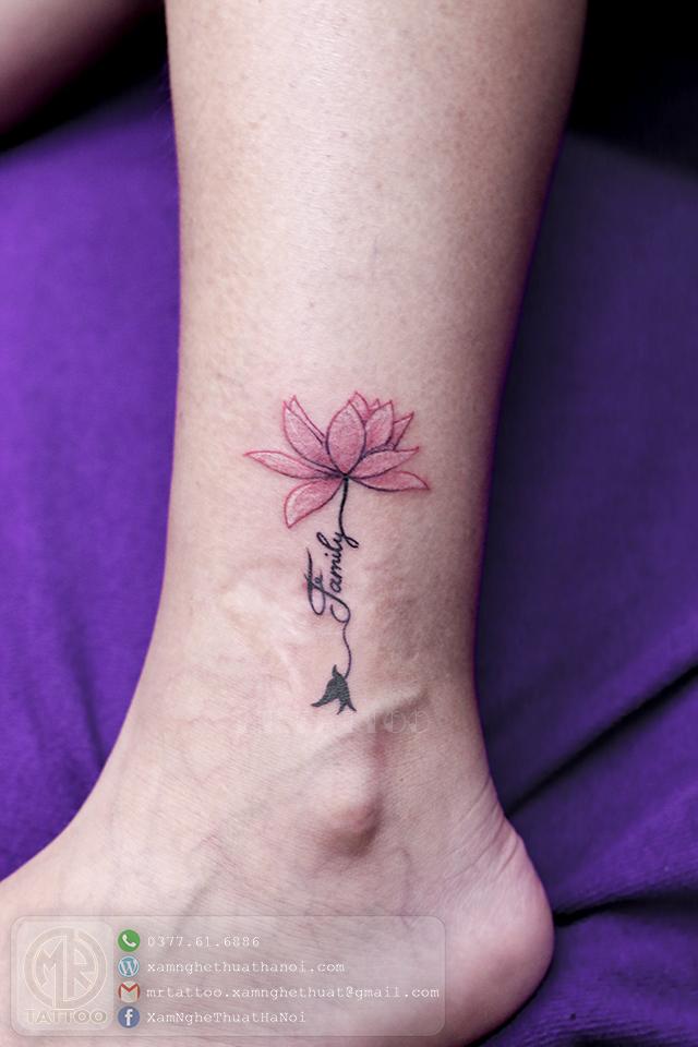 Hình xăm chữ và hoa 2 - Hình Xăm Nhỏ tại Mr.Tattoo - Những mẫu xăm nhỏ đẹp nhất 1.