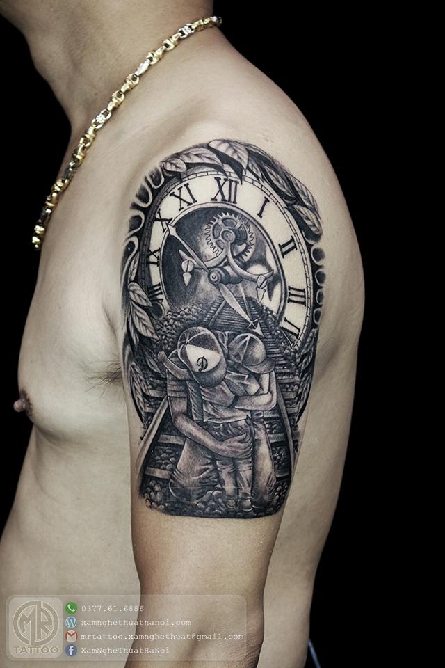 Hình xăm cha con 1 - Hình Xăm Đẹp tại Mr.Tattoo - Những mẫu xăm đẹp nhất 2.