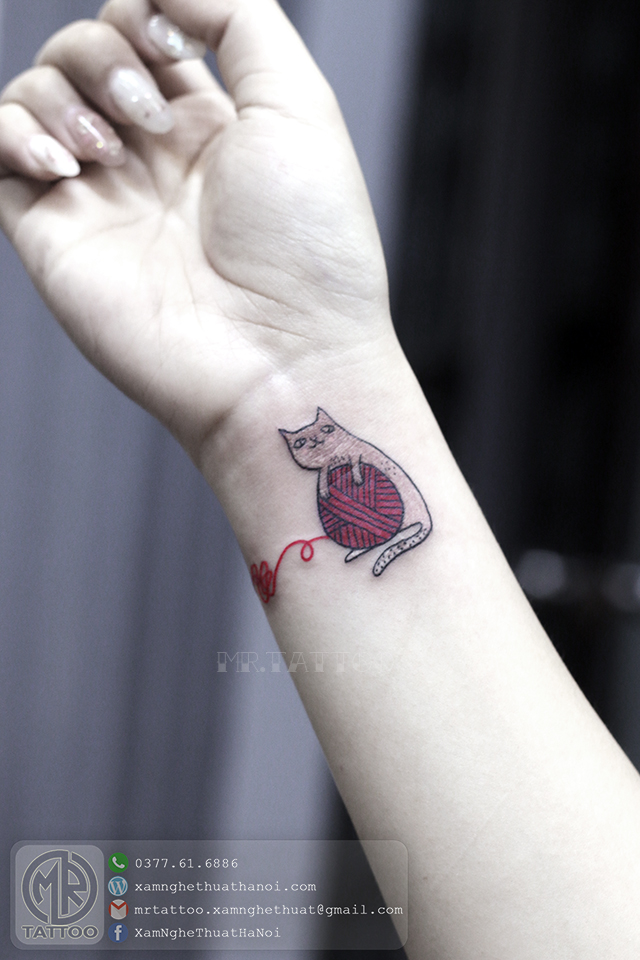 Hình xăm con mèo - Hình Xăm Nhỏ | Mini Tattoos