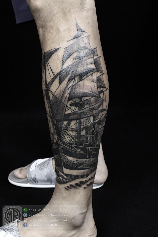 Hình xăm con thuyền - Hình Xăm Đẹp tại Mr.Tattoo - Những mẫu xăm đẹp nhất 2.