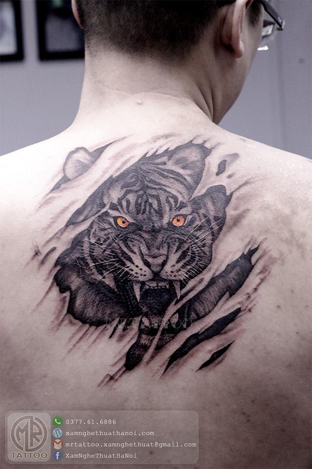 Hình xăm hổ 2 - Hình Xăm Đẹp tại Mr.Tattoo - Những mẫu xăm đẹp nhất 2.
