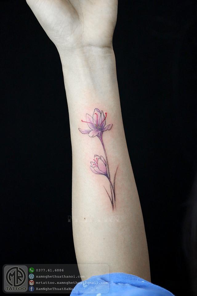 Hình xăm hoa 10 - Hình Xăm Nhỏ | Mini Tattoos