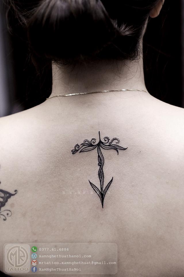 Hình xăm hoa 2 - Hình Xăm Nhỏ | Mini Tattoos