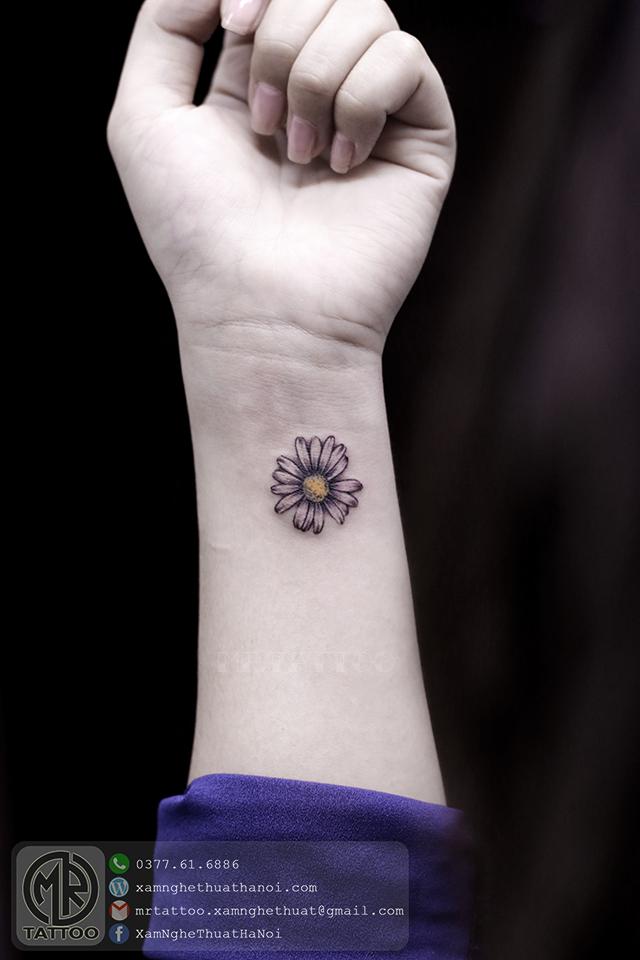 Hình xăm hoa 3 - Hình Xăm Nhỏ | Mini Tattoos