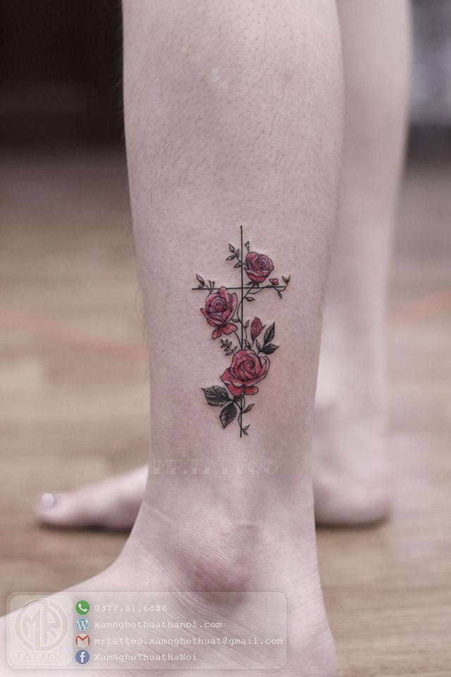 Hình xăm hoa 5 - Hình Xăm Nhỏ tại Mr.Tattoo - Những mẫu xăm nhỏ đẹp nhất 1.
