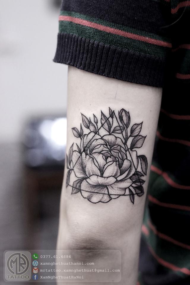 Hình xăm hoa hồng 2 1 - Hình Xăm Đẹp tại Mr.Tattoo - Những mẫu xăm đẹp nhất 1.