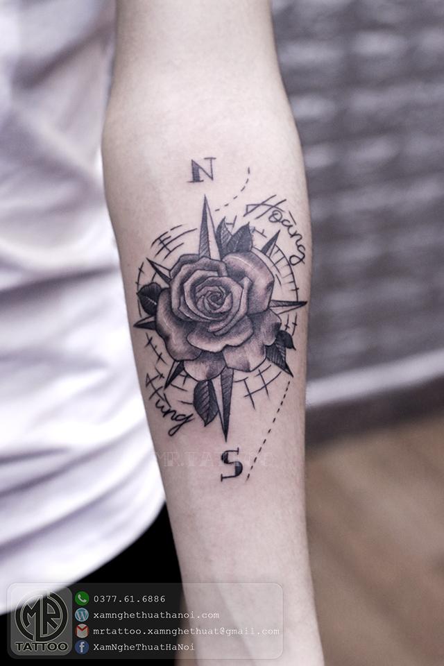 Hình xăm hoa hồng 3 - Hình Xăm Đẹp tại Mr.Tattoo - Những mẫu xăm đẹp nhất 2.