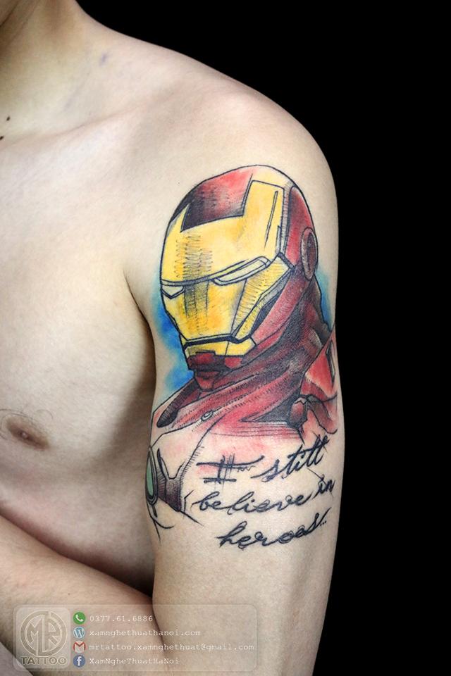 Hình xăm iron man - Hình Xăm Đẹp tại Mr.Tattoo - Những mẫu xăm đẹp nhất 2.