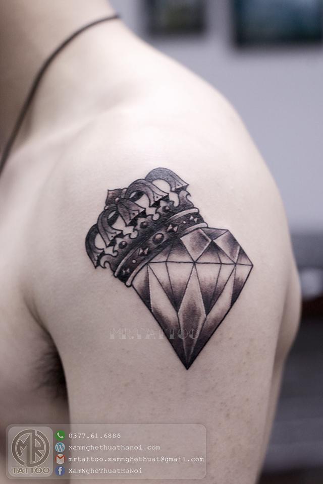 Hình xăm kim cương 1 - Hình Xăm Đẹp tại Mr.Tattoo - Những mẫu xăm đẹp nhất 2.