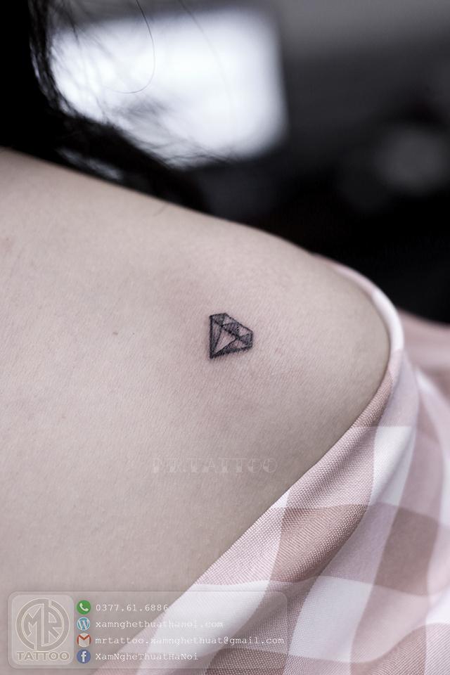Hình xăm kim cương - Hình Xăm Nhỏ | Mini Tattoos