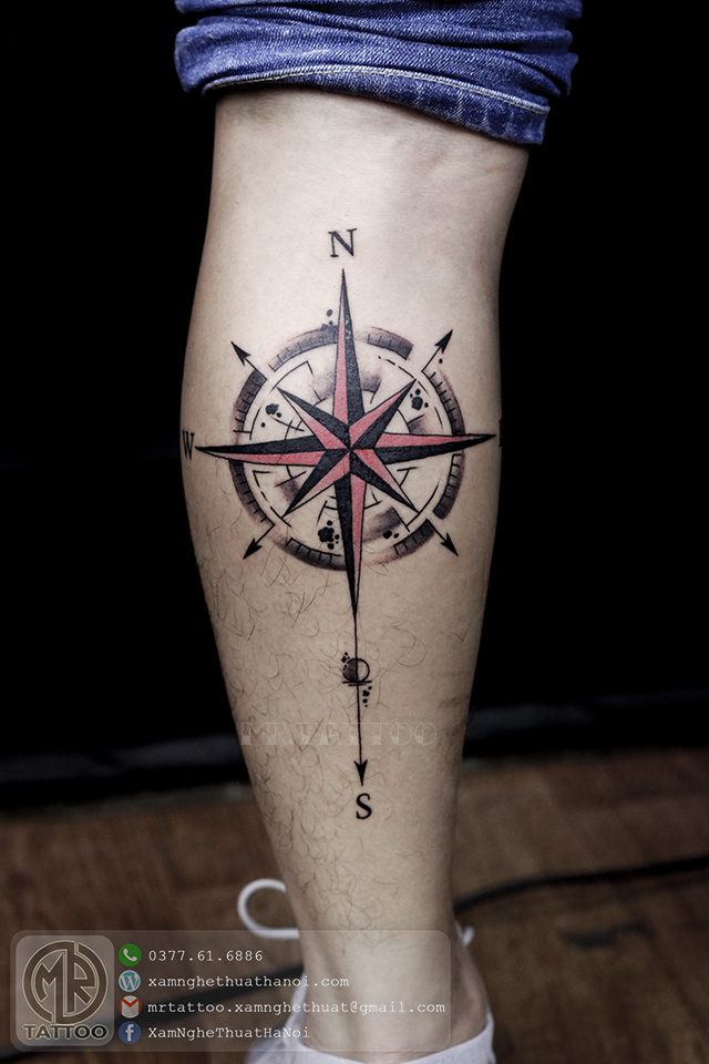 Hình xăm la bàn 2 - Hình Xăm Đẹp tại Mr.Tattoo - Những mẫu xăm đẹp nhất 2.