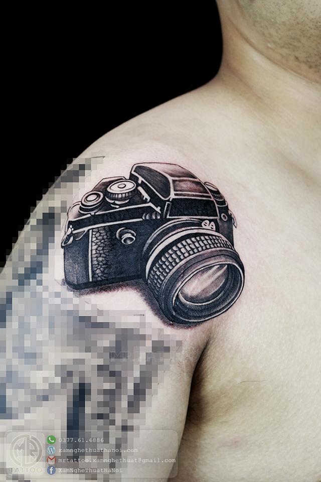 Hình xăm máy ảnh - Hình Xăm Đẹp tại Mr.Tattoo - Những mẫu xăm đẹp nhất 2.
