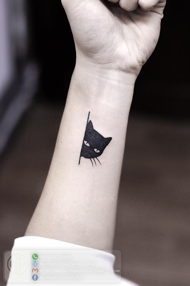 Hình xăm mèo 1 - Hình Xăm Nhỏ tại Mr.Tattoo - Những mẫu xăm nhỏ đẹp nhất 1.