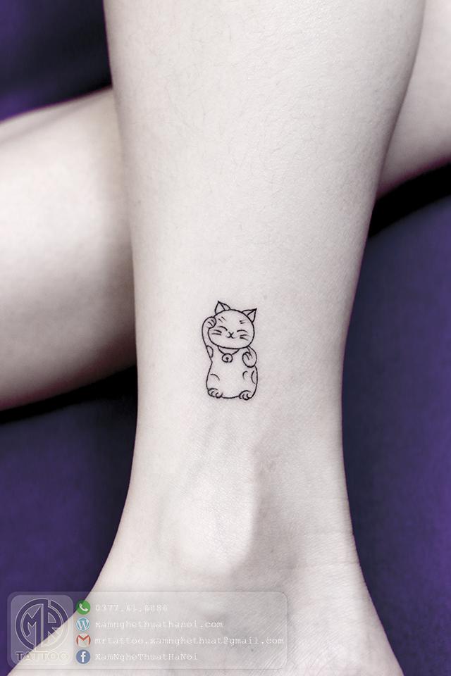 Hình xăm mèo 2 - Hình Xăm Nhỏ | Mini Tattoos