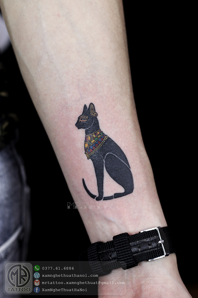 Hình xăm mèo ai cập - Hình Xăm Nhỏ | Mini Tattoos