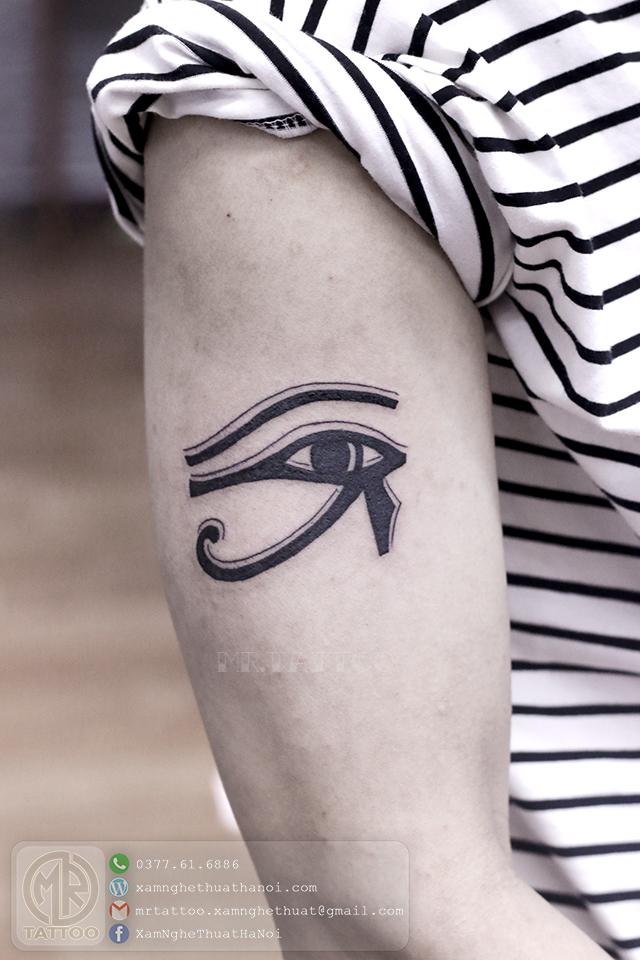 Hình xăm mắt ai cập 2 - Hình Xăm Nhỏ | Mini Tattoos