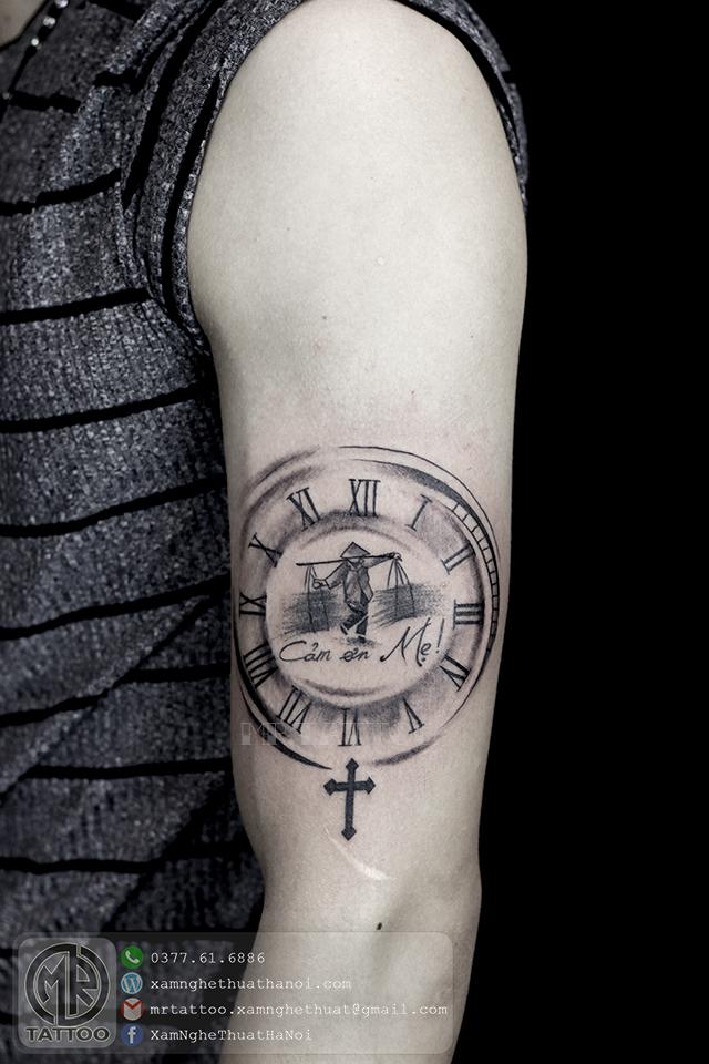 Hình xăm mẹ gánh lúa - Hình Xăm Nhỏ | Mini Tattoos