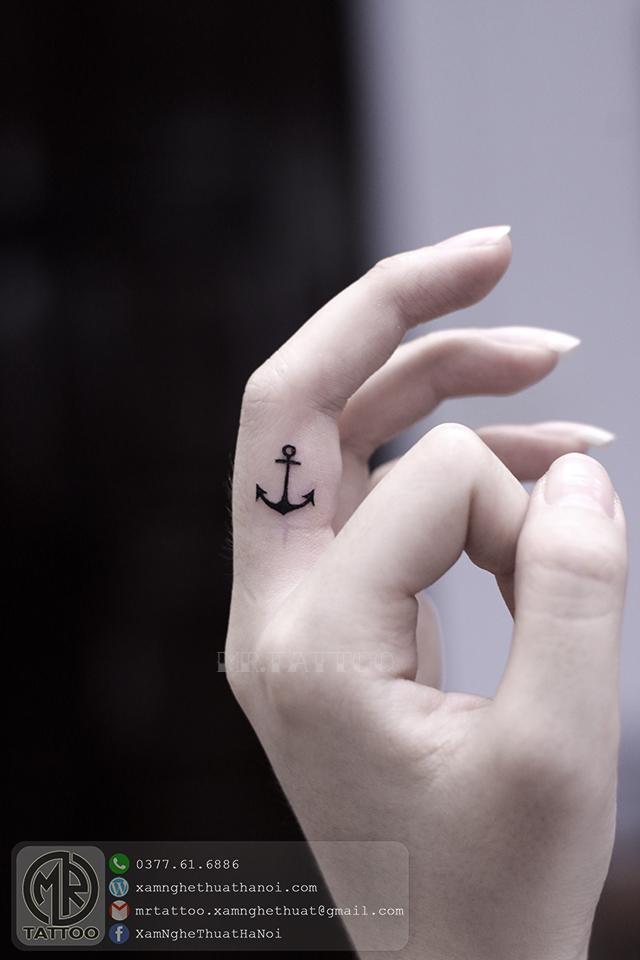 Hình xăm mỏ neo - Hình Xăm Nhỏ tại Mr.Tattoo - Những mẫu xăm nhỏ đẹp nhất 1.