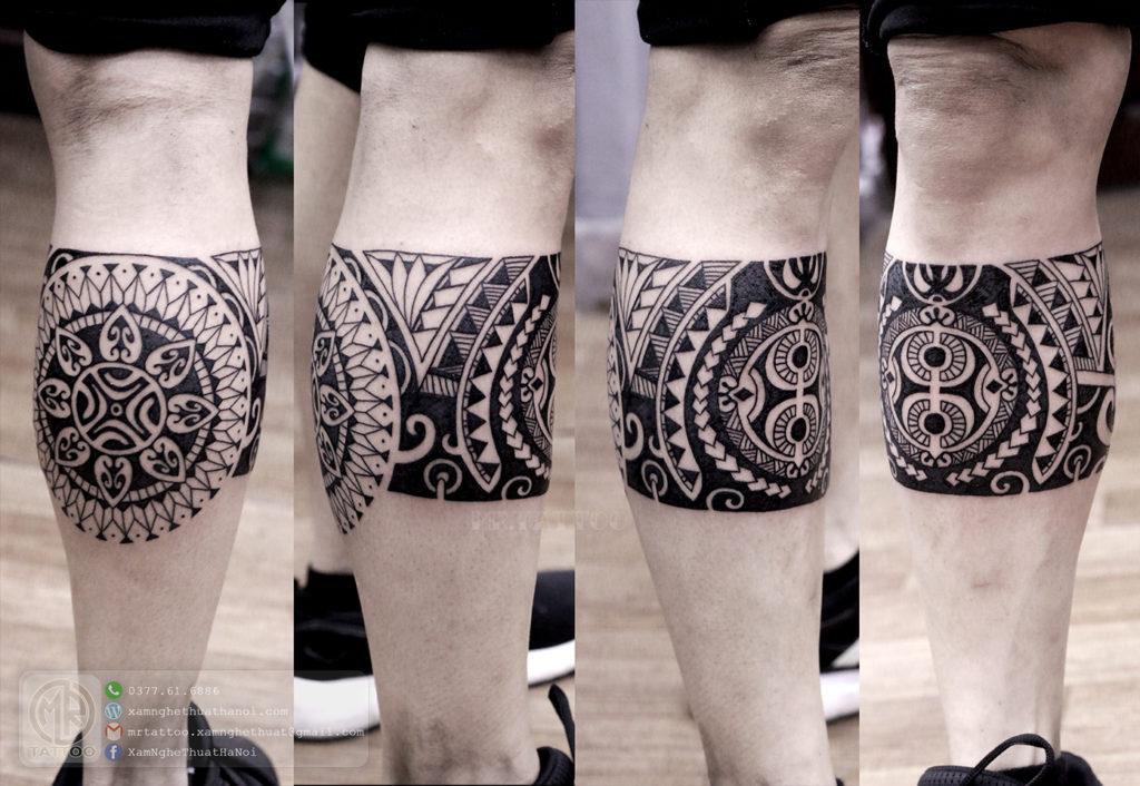 Hình xăm maori bắp chân 1024x706 - Hình Xăm Đẹp tại Mr.Tattoo - Những mẫu xăm đẹp nhất 2.