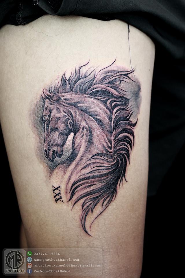 Hình xăm ngựa - Hình Xăm Đẹp tại Mr.Tattoo - Những mẫu xăm đẹp nhất 1.