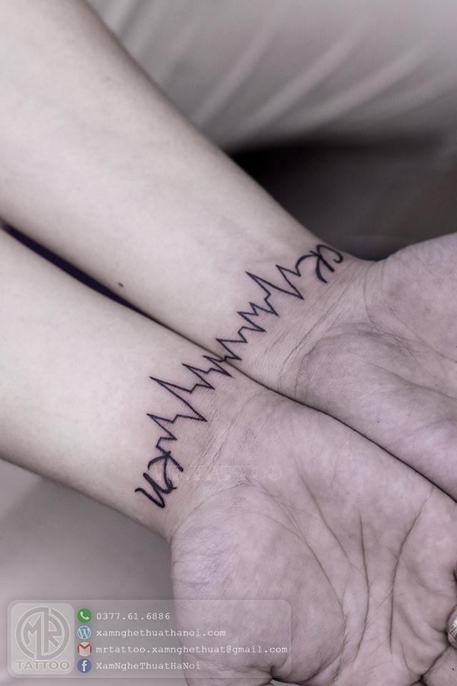 Hình xăm nhịp tim - Hình Xăm Nhỏ tại Mr.Tattoo - Những mẫu xăm nhỏ đẹp nhất 1.
