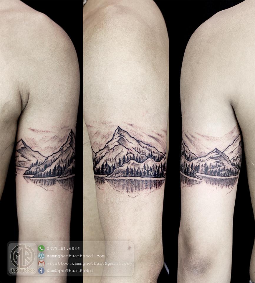 Hình xăm phong cảnh 2 - Hình Xăm Đẹp tại Mr.Tattoo - Những mẫu xăm đẹp nhất 1.