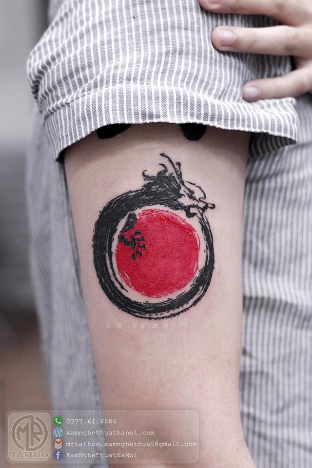 Hình xăm rồng mặt trời - Hình Xăm Đẹp tại Mr.Tattoo - Những mẫu xăm đẹp nhất 2.