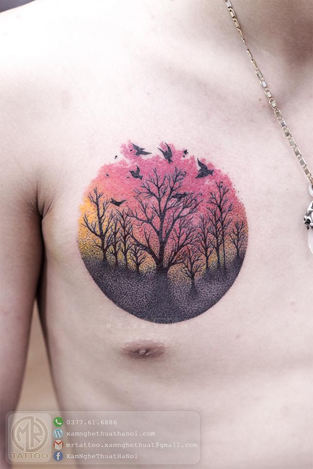 Hình xăm rừng cây - Hình Xăm Đẹp tại Mr.Tattoo - Những mẫu xăm đẹp nhất 2.