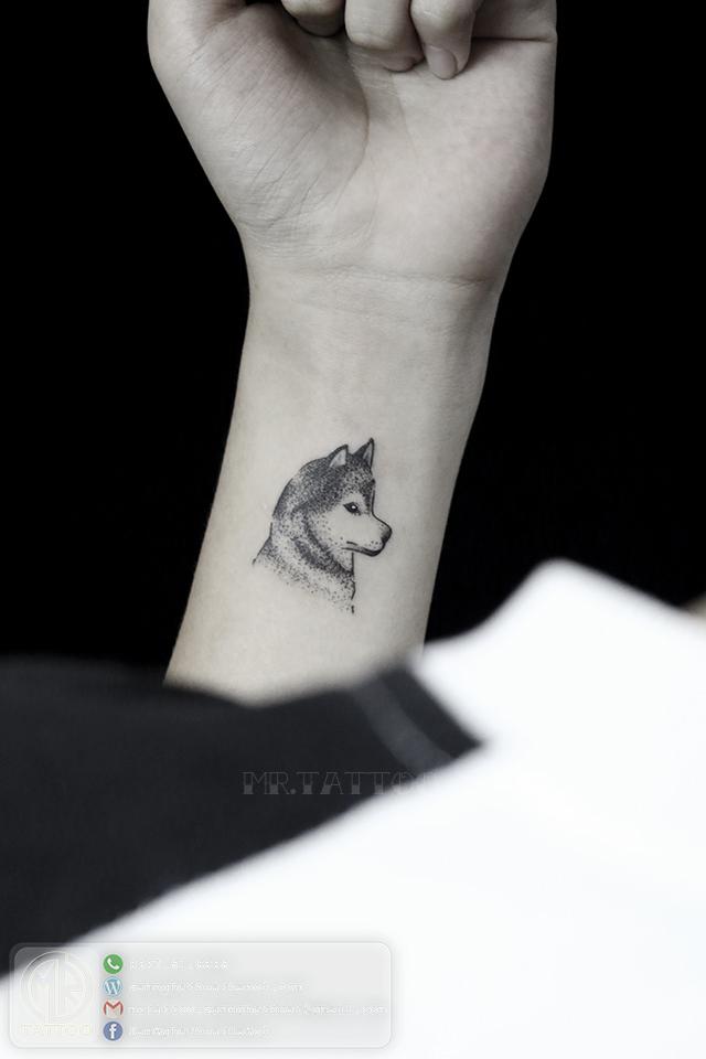 Hình xăm sói 1 - Hình Xăm Nhỏ tại Mr.Tattoo - Những mẫu xăm nhỏ đẹp nhất 1.