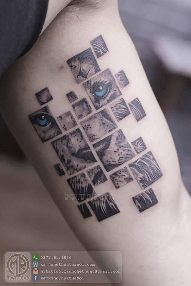 Hình xăm sư tử - Hình Xăm Đẹp tại Mr.Tattoo - Những mẫu xăm đẹp nhất 1.